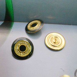 bottoni oro nero Rotonda 21 mm per le tue creazioni