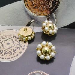 bottoni bronzo con perline Rotonda 20 mm per le tue creazioni