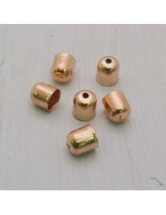 Coppette terminali per cuoio cordino nappine col oro rosa bigiotteria
