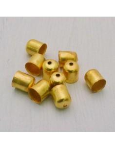 Coppette terminali per cuoio cordino nappine col oro bigiotteria