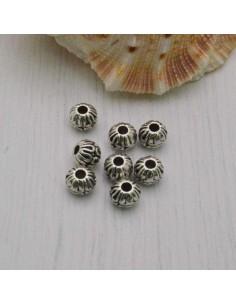 Distanziatori Perline tondo lavorata 5 mm da 12 pz in metallo per bigiotteria