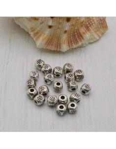 Distanziatori Perline tondo RIGATA 3 mm da 43 pz in metallo per bigiotteria