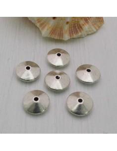 Distanziatore a rondella piatta a liscia piccola 11 mm 8 pz in metallo per bigiotteria