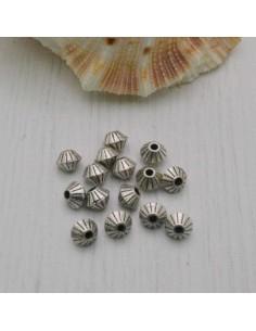 Distanziatore a rondella piatta a rigata piccola 4 mm 15 pz in metallo per bigiotteria