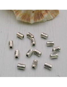 Distanziatore a cilindro a piccola 5 x 3 mm 25 pz in metallo per bigiotteria