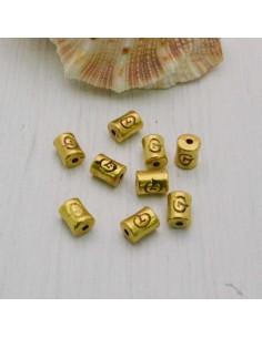 Distanziatore a cilindro lavorata a piccola 6 x 3 mm 20 pz in metallo