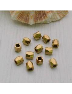 Distanziatore a magnetiche sfaccettate piccola 4 mm 16 pz in ottone per bigiotteria