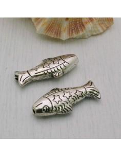 Distanziatori per Bigiotteria Inframezzi pesce decorati 25 mm 2 Pz in metallo per bigiotteria