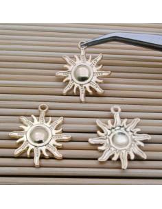 Ciondoli forma di Soli 24 mm 3 Pz per bigiotteria