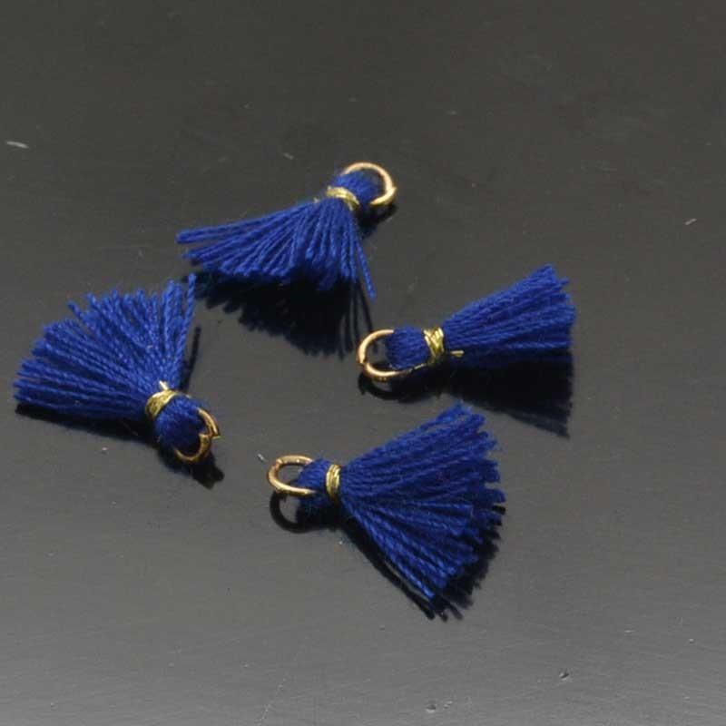 mini nappine con filo cotone lunghezza 10mm per bigiotteria 4 Pz.