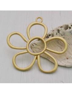 1PZ Ciondolo zama forma fiore 44x 50 mm
