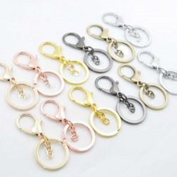 moschettone per porta chiavi borse 70 mm con anelli 32 mm catena 3 cm per tue creazioni