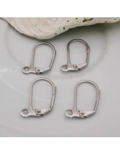 monachelle chiuse in ACCIAIO 11x16 mm per orecchini 4 pz bigiotteria