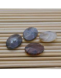 2 pz AGATA BOTSWANA forma ovale sfaccettato 12 x 16 mm per gioielli