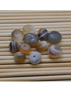 4 pz AGATA BOTSWANA sasso naturale liscio 6.5 x 8 mm per gioielli