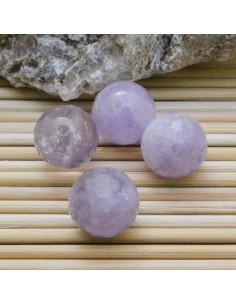 Ametista lavanda forma sasso speciale sfaccettata 20 x 25 mm lilla chiaro