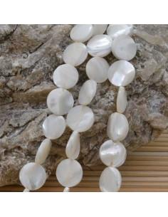 1 filo MADREPERLA NATURALE forma dischi liscio 12 mm 36 pz 40 cm per i tuoi gioielli