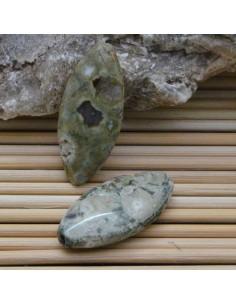 pietra riolite liscio ovale 15 x 30 mm per gioielli