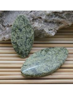 pietra diaspro liscio ovale 20 x 40 mm per gioielli
