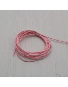 CORDINO TONDO CERATO 100% col rosa 1 mm per tuoi gioielli