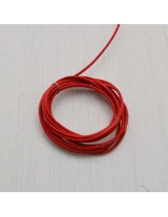 CORDINO TONDO CERATO 100% col rosso 1 mm per tuoi gioielli