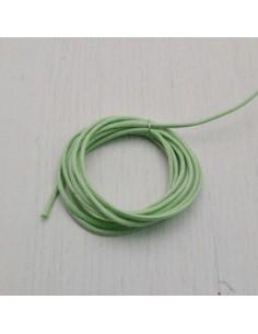 CORDINO TONDO CERATO 100% col verde chiaro 1 mm per tuoi gioielli