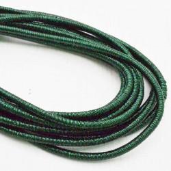 filo metallico ricoperto lurex col verde per base orecchini collana bracciali per tuoi gioielli