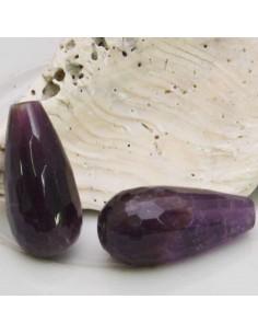 1 pz Goccia 10 x 20 mm pietra di Gocce ametista sfaccettata per tue creazioni