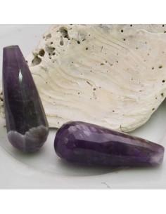 1 pz Goccia 15 x 25 mm pietra di Gocce ametista sfaccettata per tue creazioni