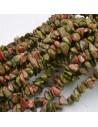 perline in pietra chips unakite Sassolini per bigiotteria 5x9 mm circa 200pz filo 90cm