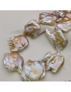Perle Di Fiume Barocche FORME PARTICOLARI 35 mm spessore 8 mm 12 pz per tuoi gioielli