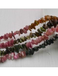 perline in pietra chips tormalina Sassolini 2.5 x 6 mm circa 130 pz filo 40cm