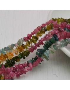 perline in pietra chips tormalina Sassolini 1.5 x 5 mm circa 200 pz filo 38 cm