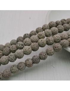 pietra lavica rotondo grezzo col grigio 6 mm 8 mm per tuoi gioielli