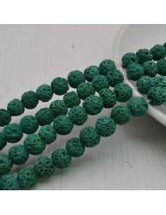 pietra lavica rotondo grezzo col verde 6 mm 8 mm per tuoi gioielli