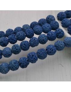 pietra lavica rotondo grezzo col blu 6 mm 8 mm per tuoi gioielli