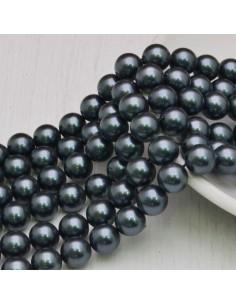 Perle Di Madreperla rotondo col grigio scuro 8 mm 48 pz per tuoi gioielli
