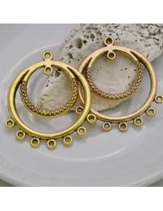 1 paio Chandelier Base per orecchini col oro antico 35 MM PER BIGIOTTERIA