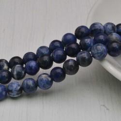 filo pietre di sodalite tondo liscio 8 mm 48 pz per tuoi gioielli