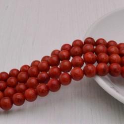 filo Madrepora Tondo ROSSO liscio 8 mm 50 pz per tuoi gioielli