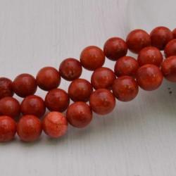 filo Madrepora Tondo ROSSO liscio 10 mm 39 pz per tuoi gioielli