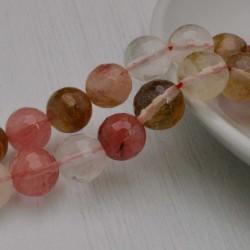 filo di quarzo cherry multicol pietra e sfaccettata tonda 10 mm 38 pz PER TUOI GIOIELLI