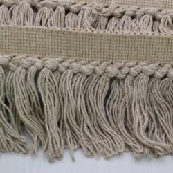 50 cm PASSAMANERIA A FRANGIA 11 CM col beige per borse e cucito Ottima Qualità
