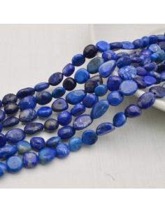 Pietre dure Lapislazzuli Sasso Burattato qualità di gioielli 5-9 mm filo 40cm