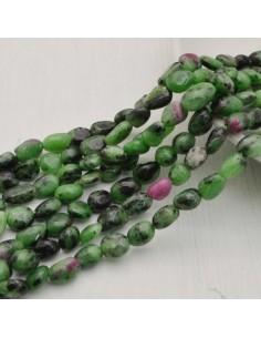 Pietre dure RUBIZOISITE Sasso Burattato qualità di gioielli 5-9 mm filo 40cm