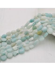 Pietre dure Amazzonite Sasso Burattato qualità di gioielli 5-9 mm filo 40cm