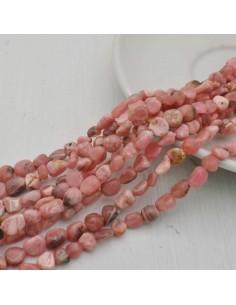 Pietre dure rosa Sasso Burattato qualità di gioielli 5-9 mm filo 40cm