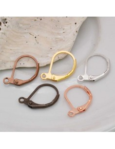 accessori per orecchini Monachelle Orecchini in Ottone Monachella chiusa 11 x 13 mm