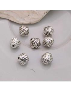 Distanziatori Perline 7.5 mm da 7 pz in metallo per bigiotteria