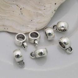 Distanziatori liscio 6 mm con anellino 3mm foro 4 mm 20 pz in metallo per bigiotteria